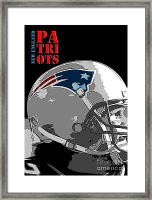 New England Patriots Original Typography Football Team Framed Print by Pablo Franchi