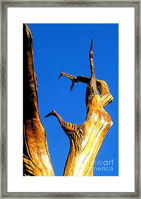 New Orleans Bird Tree Sculpture In Louisiana Framed Print