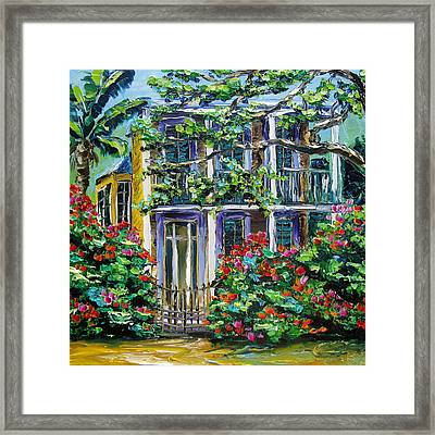 New Orleans Painting Behind The Gate B. Sasik Framed Print