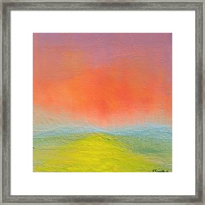 Framed Print featuring the painting New Path by Jaison Cianelli