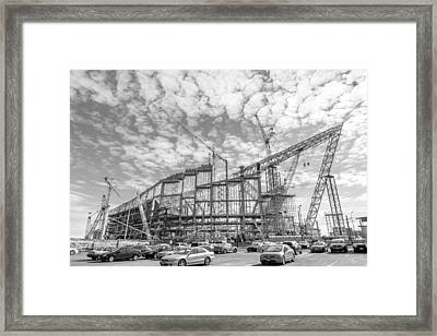 U S Bank Stadium Under Construction Framed Print