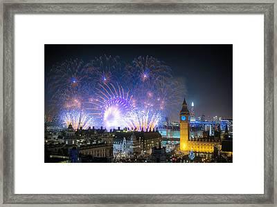 New Year Fireworks Framed Print