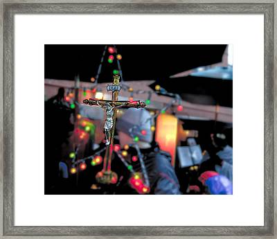 New York Christmas Framed Print by Patrick  Flynn