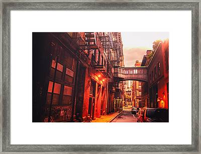New York City Alley Framed Print