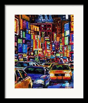 Manhatten Paintings Framed Prints
