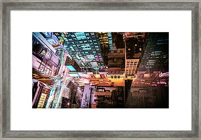 New York City - Night Framed Print by Vivienne Gucwa