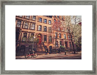 New York City - Springtime - West Village Framed Print by Vivienne Gucwa