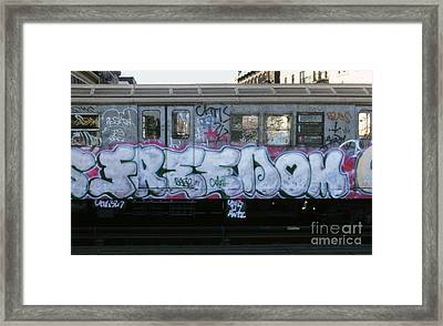 New York City Subway Graffiti Framed Print