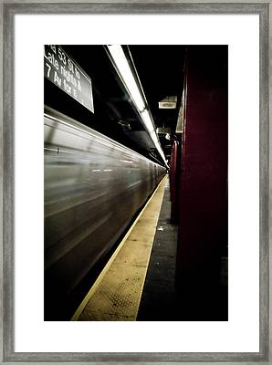 New York City Subway Framed Print by Patrick  Flynn