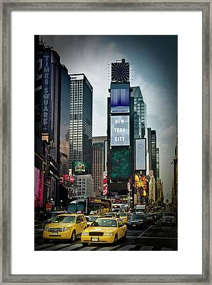 New York City Times Square Framed Print