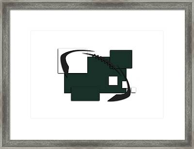 New York Jets Abstract Shirt Framed Print by Joe Hamilton