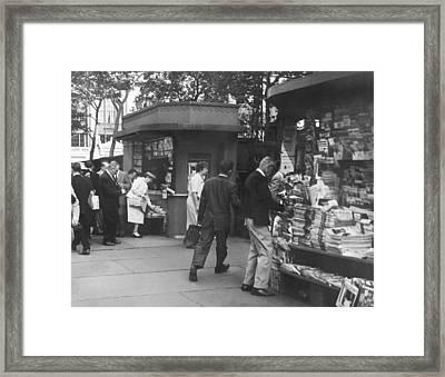 New York Newspaper Stand Framed Print