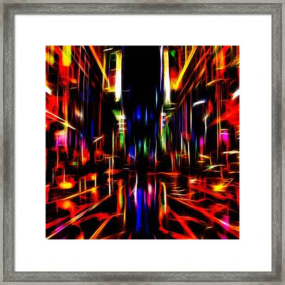 New York Nights Framed Print by Steve K