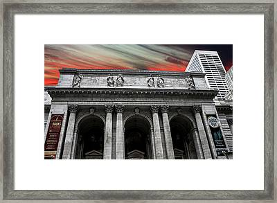 New York Public Library Framed Print by Martin Newman