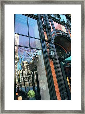 Facade Reflections Framed Print by Jessica Jenney
