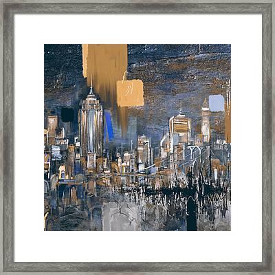 New York Skyline 198 3 Framed Print by Mawra Tahreem