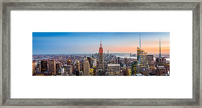 New York Skyline Panorama Framed Print