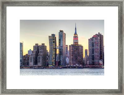 New York Spirit Framed Print by Zev Steinhardt