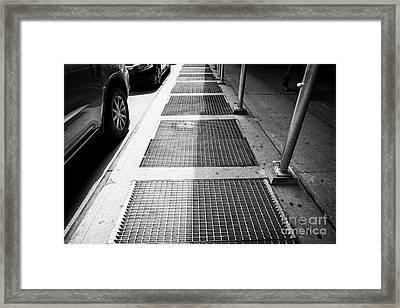 New York Subway Ventilation Grills In Sidewalk City Usa Framed Print