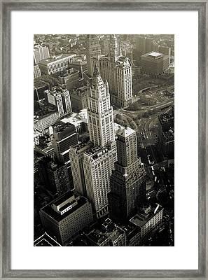 New York Woolworth Building - Vintage Photo Art Print Framed Print