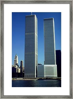 New York World Trade Center Before 911 Photo Framed Print