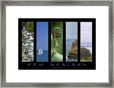 New Zealand Framed Print by Andrea Cadwallader