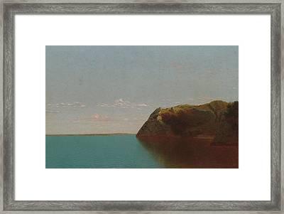 Newport Rocks Framed Print by John Frederick Kensett