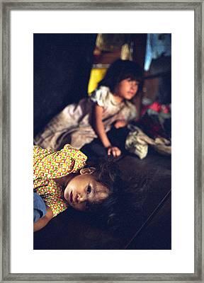 Nicaraguan Girls Framed Print