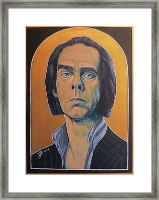 Nick Cave Framed Print by Jovana Kolic