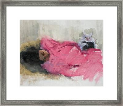 Nicole And Josie Framed Print by Merle Keller