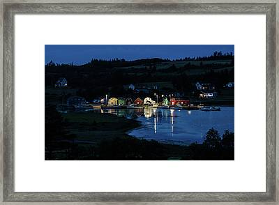 Framed Print featuring the photograph Night At French River Harbour, Pei by Rob Huntley