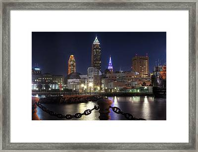 Night Falls On The North Coast Framed Print by At Lands End Photography
