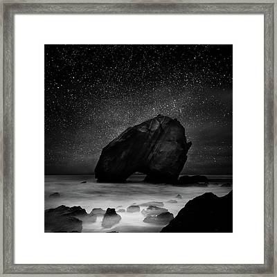 Framed Print featuring the photograph Night Guardian by Jorge Maia