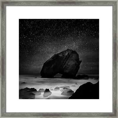 Night Guardian Framed Print by Jorge Maia
