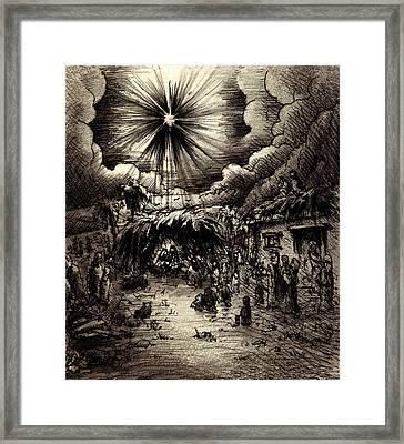 Night In Bethlehem Framed Print