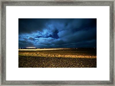 Framed Print featuring the photograph Icelandic Night  by Dubi Roman