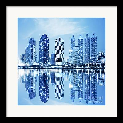 Commercial Structures Framed Prints