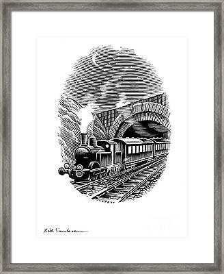 Night Train, Artwork Framed Print