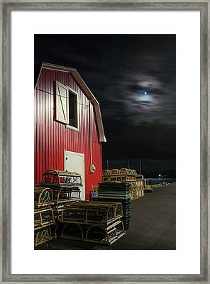 Framed Print featuring the photograph Nighttime On The Wharf. by Rob Huntley