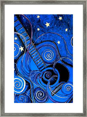 Night's Melody A.k.a. Blue Guitar Framed Print