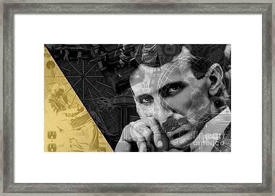Nikola Tesla Collection Framed Print by Marvin Blaine
