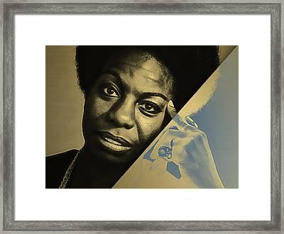 Nina Simone Collection Framed Print by Marvin Blaine