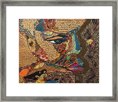 Nina Simone Fragmented- Mississippi Goddamn Framed Print