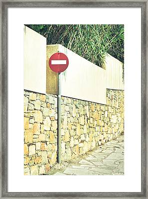 No Entry Sign Framed Print by Tom Gowanlock