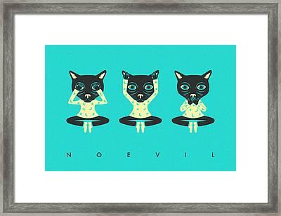 No Evil Framed Print by Jazzberry Blue