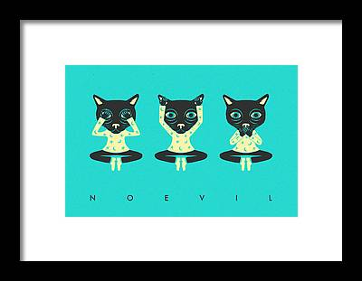 See No Evil Framed Prints