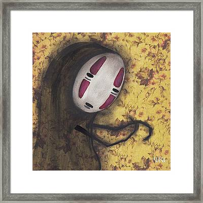 No Face Framed Print by Abril Andrade Griffith