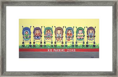 No Parking Zone Framed Print by Kenji Lauren Tanner