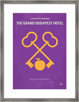 No347 My The Grand Budapest Hotel Minimal Movie Poster Framed Print