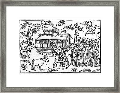 Noah's Ark, 16th-century Bible Framed Print by King's College London